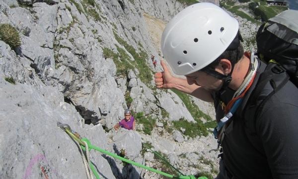 Klettergurt Alpinklettern : Mit dem bergführer alpinklettern an der alpspitze