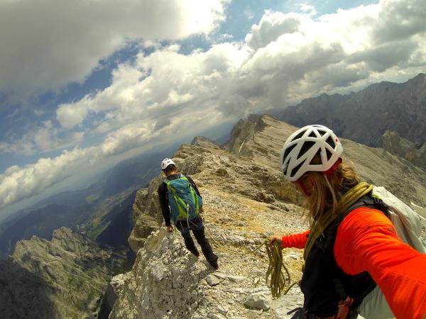 Jubiläumsgrat Klettersteigset : Führung jubiläumsgrat bergführer alpinschule garmisch