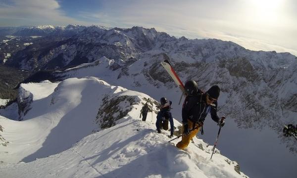 Klettergurt Skitour : Geführte skitour auf die alpspitze alpinschule garmisch