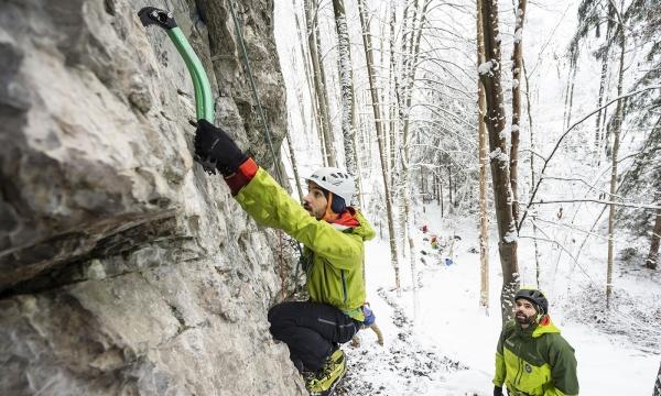 Klettersteigset Ausleihen Garmisch : Drytooling kurs