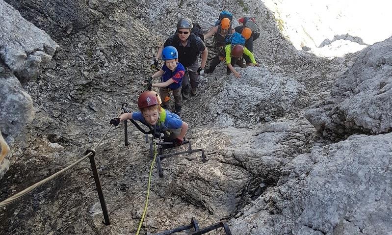 Klettersteig Garmisch : Klettersteigtour für familen in garmisch partenkirchen