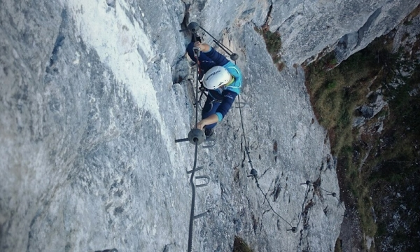 Klettergurte Für Klettersteig : Führung durch den seebener klettersteig bei ehrwald