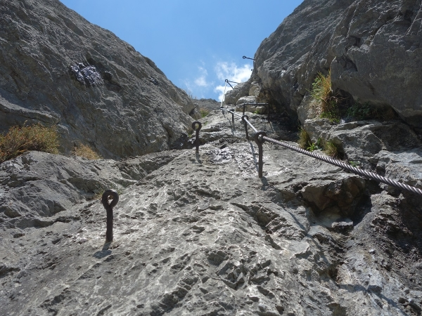 Maximilian Klettersteig : Kaiser max klettersteig mit bergführer begehen