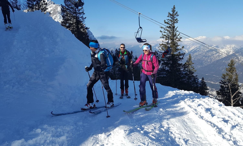 Klettersteigset Garmisch Ausleihen : Einsteiger skitourenkurs auf der piste alpinschule garmisch
