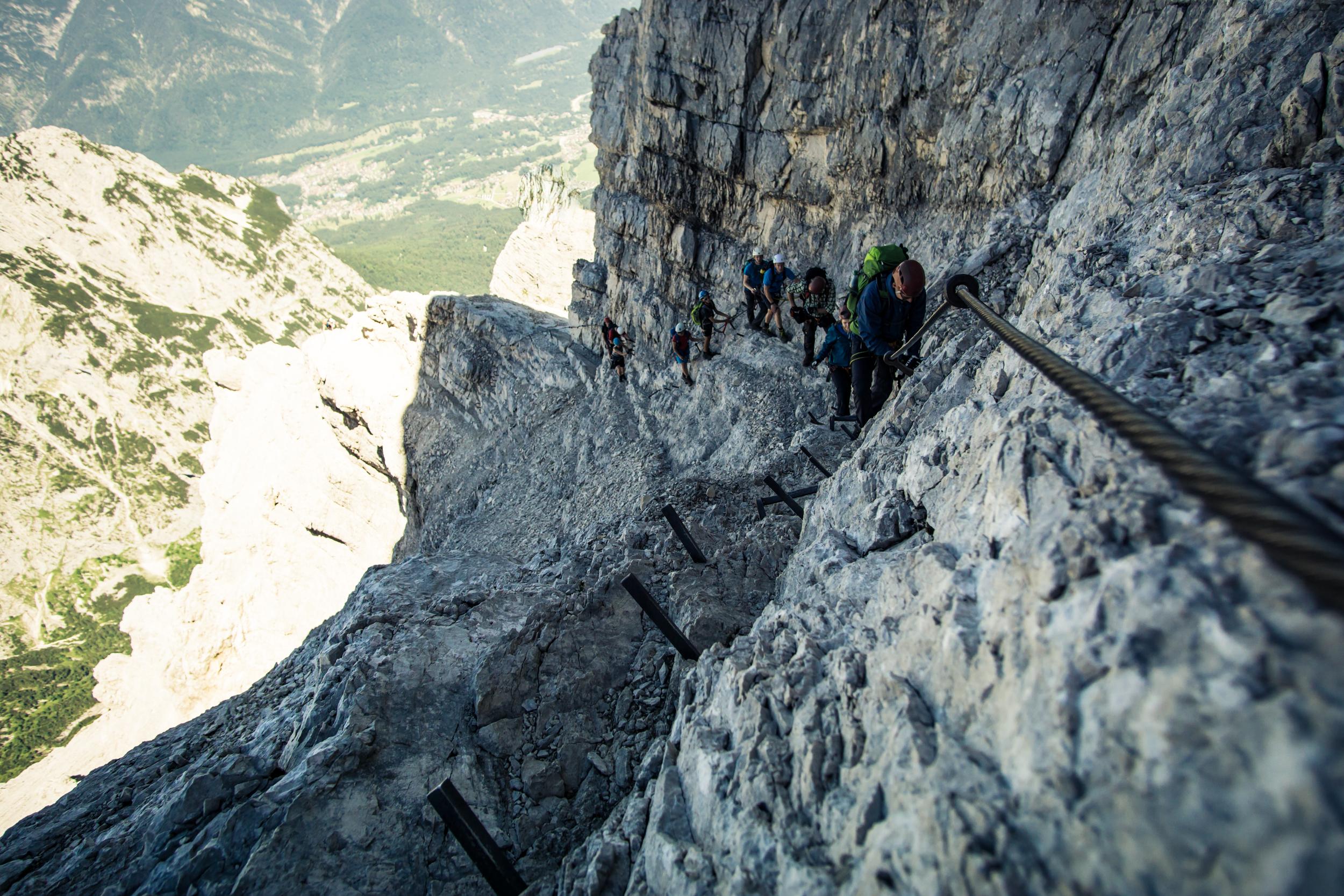 Klettersteig Grade : Klettersteige in bayern die top