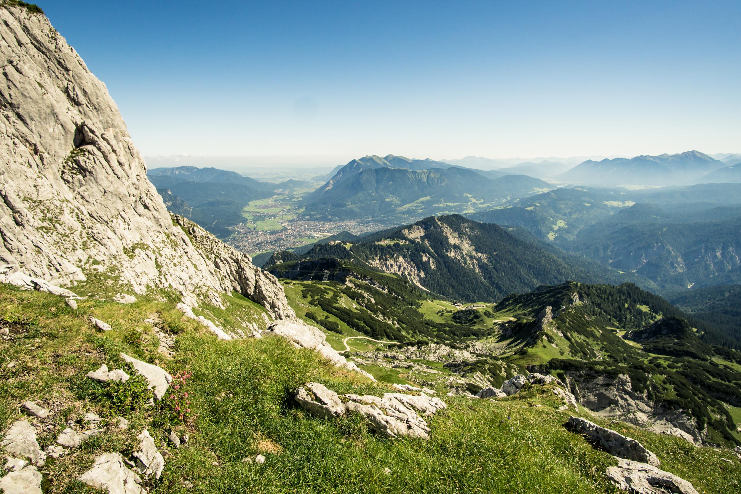 Einstieg der Alpspitz-Ferrata