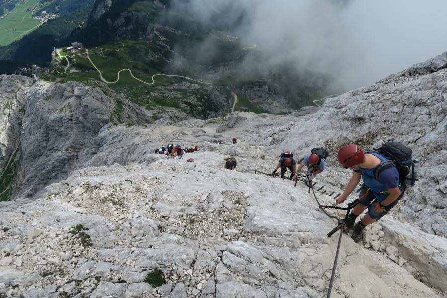 Klettersteig Alpspitze : Wetterstein alpspitze