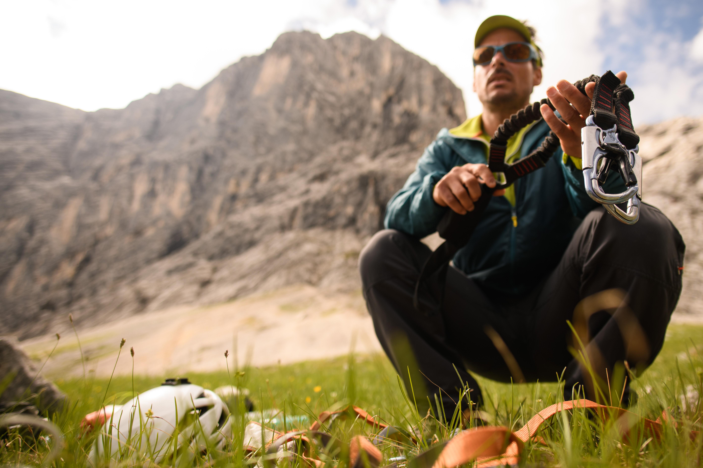 Klettersteigausrüstung für die Alpspitze